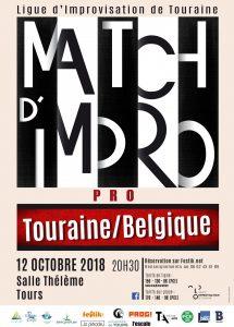 Match impro Tours Belgique octobre 2018