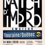 Affiche théâtre Match Amateur LIQA 14 mai